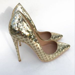 Shoes - Reflective gold high heel